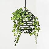 DEN Nordic flower chandelier Creative personality bar table corridor bedroom garden green plant chandelier,A,One size
