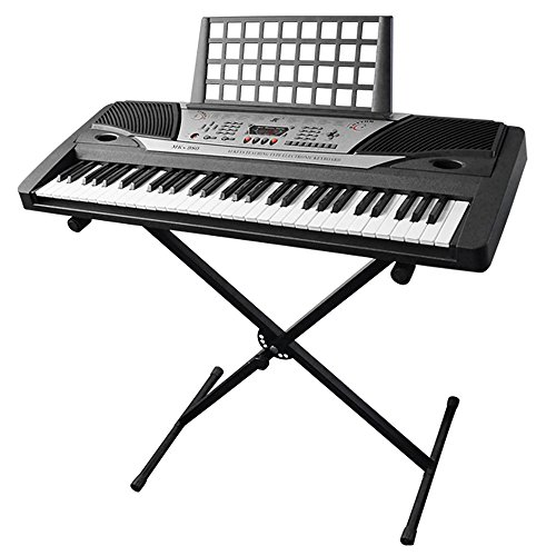 AW Electronic Piano Keyboard 61 Key Music Key Board Beginner 37x14x5