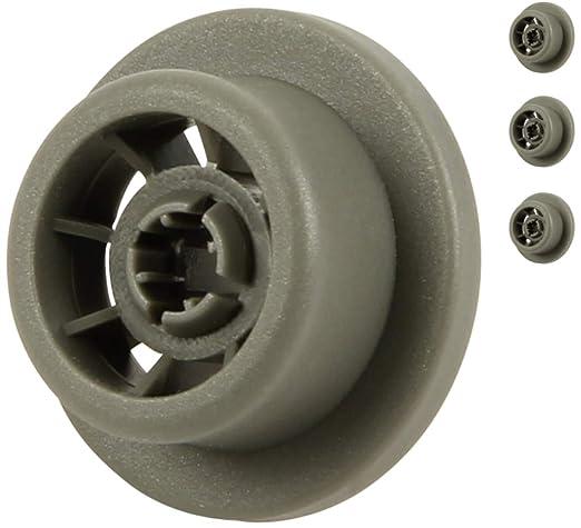 unterkorbrollen para lavavajillas, contenido: 4 pieza | Adecuado para Siemens, Bosch, Neff, etc. | de McFilter