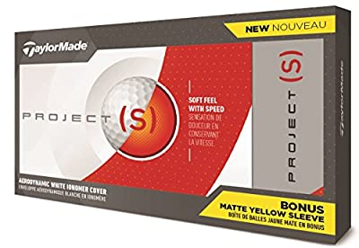 Taylor Made 2018 Project (S) Launch Golf Balls #1-#4 15-Ball Pack