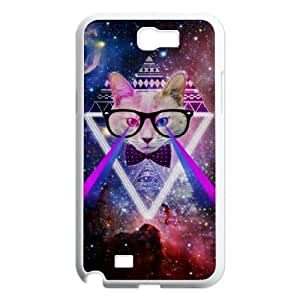 Galaxy Hipster Cat Original New Print DIY Phone Case for Samsung Galaxy Note 2 N7100,personalized case cover ygtg550663
