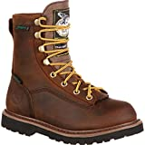Georgia Boot Unisex G2048 Mid Calf Boot, Dark Brown, 5.5 M US Big Kid