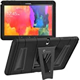 i-Blason Samsung Galaxy Tab Pro 10.1 Case - Armorbox Dual Layer Hybrid Full-body Protective Cover with Kickstand and Impact Resistant Bumpers (Samsung Galaxy Tab Pro 10.1, Black/Black)