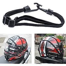 kangnice 2ganchos de motocicletas Fuerza retráctil Casco equipaje Correa de cuerda elástica