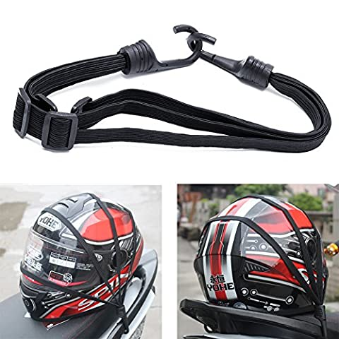 Kangnice Retractable Elastic Rope Strap for Motorcycle Helmet Luggage, 2 Hooks - Motorcycles Accessories