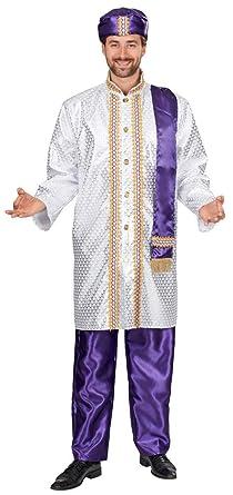 Sultan Moez Orient Prinz Kostum Fur Herren Weiss Lila