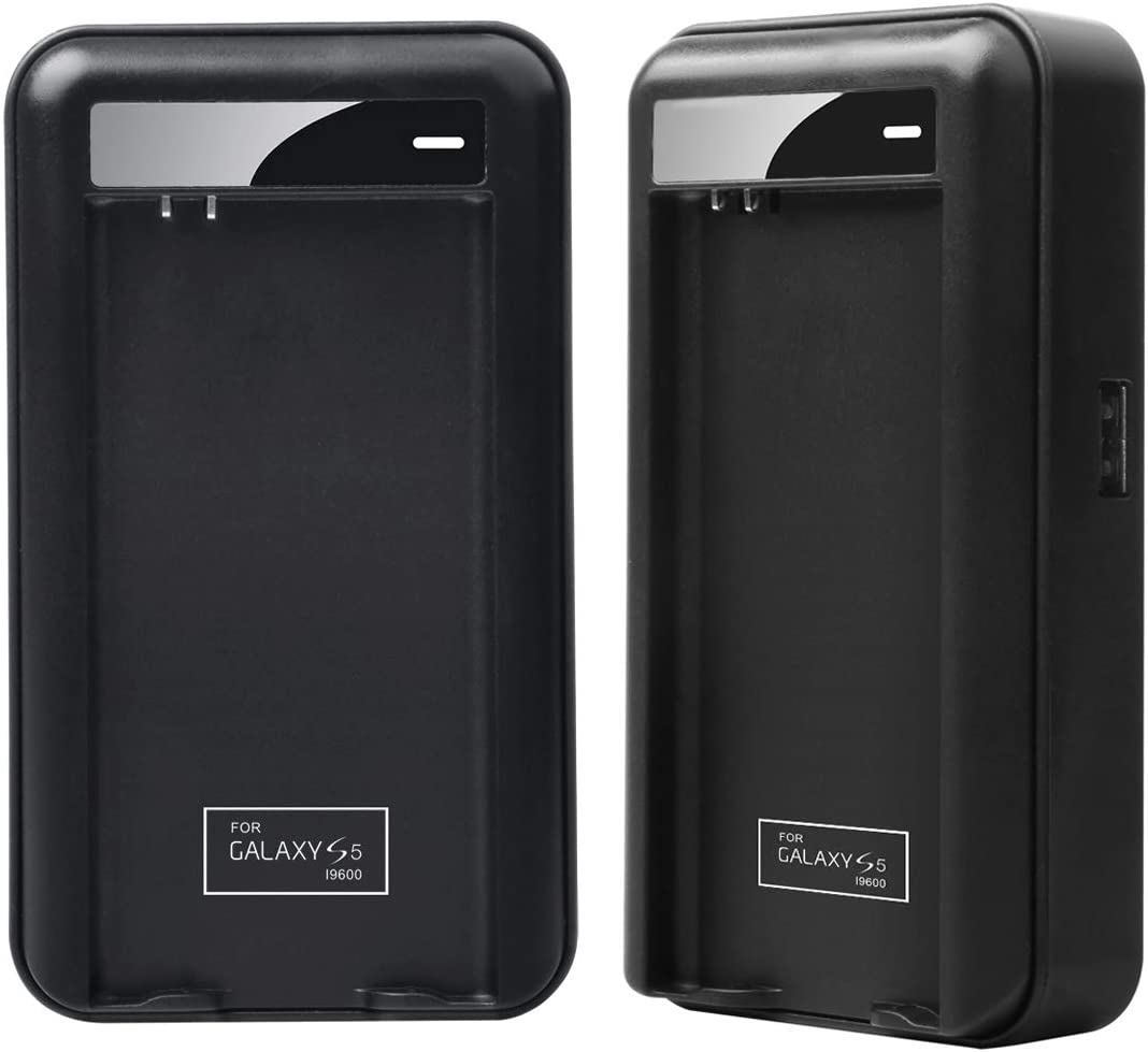 Lrker Samsung Galaxy S5 Specialized Battery Charger Intelligent Portable USB Travel Charger for Samsung Galaxy S5 & S5 Active Spare Battery EB-BG900BBC - Battery is Not Included(1 C)