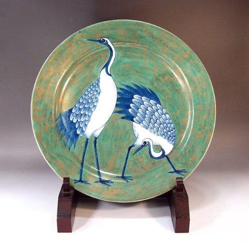 Arita - Imari | pottery ornaments Sarah Kazarisara - platter | gifts | Gifts | souvenir | gift | couple crane Fujii NishikiAya - Imari Large Platter