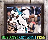 Cam Newton American Football Quarterback Autographed 8x10 Photo Reprint #38 Special Unique Gifts Ideas Him Her Best Friends Birthday Christmas Xmas Valentines Anniversary Fathers Mothers Day