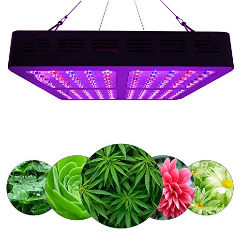 Grow Light Reflector (ZXMEAN Reflector-Series LED Grow Light Full Spectrum Plant Growing Lamp with VEG and Bloom Switch and Hanging kits for Greenhouse Indoor Plants(1200W))