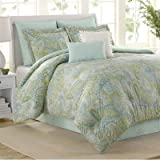 new york bed in a bag - Soho New York Home Sea Glass 8-Piece Comforter Set, Queen