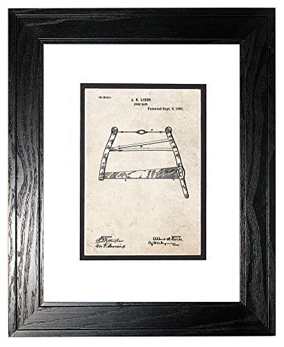 Old Look Print in a Black Pine Wood Frame with a Double Mat (18