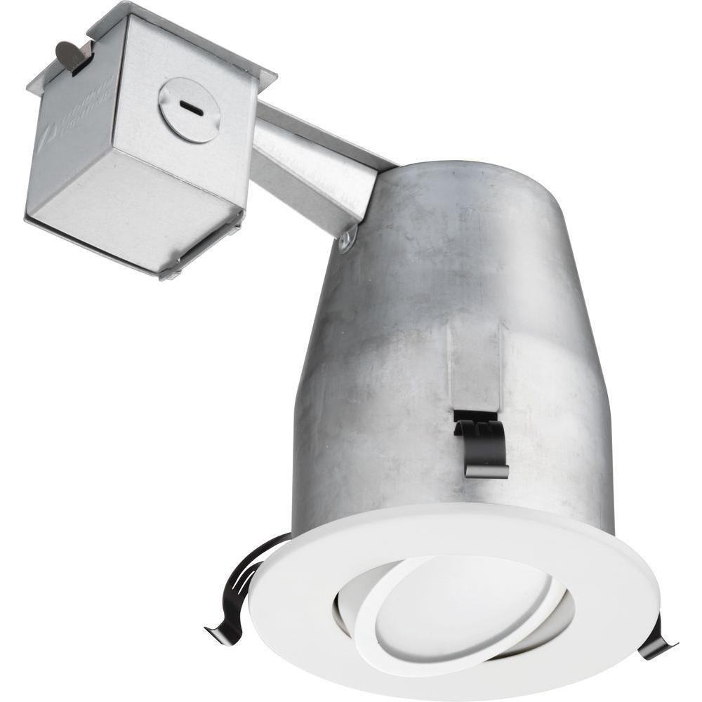 Lithonia Lighting LK4G2MW LED 50K M4 Gimbal Kit with Integrated Led, White, 4 inch