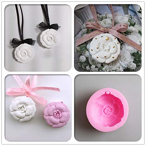 Camellia plaster mold Wax sheet mold Car decoration Gypsum mold DIY Aromatherapy wax Moulds ()