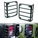 ICARS Rear Euro Matte Tail Light Guards Covers for Rear Taillights 2007-2017 Jeep Wrangler JK Unlimited Accessories