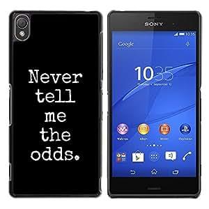 Be Good Phone Accessory // Dura Cáscara cubierta Protectora Caso Carcasa Funda de Protección para Sony Xperia Z3 D6603 / D6633 / D6643 / D6653 / D6616 // gamer gambling poker blackja