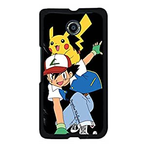 Exquisite Pokemon Hard Plastic Shell Cover with Pikachu Design Snap on Google Nexus 6