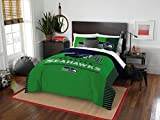 seahawks full bedding - Seattle Seahawks - 3 Piece FULL / QUEEN Size Printed Comforter Set - Entire Set Includes: 1 Full / Queen Comforter (86