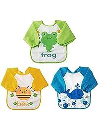 Baby Smock Baby Waterproof Sleeved Bibs
