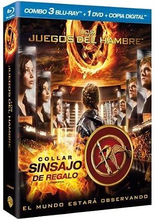 Los Juegos del hambre Combo 3 Blu-ray + 1 dvd + Copia digital + ...