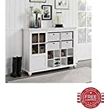 4 Cube Storage Cabinet White Baskets Kitchen Bathroom Door Home Living Furniture & E book By Easy2Find