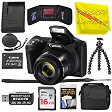 Canon Powershot SX420 is [Black] 20 MP Wi-Fi Digital Camera with 42x Zoom Includes: Canon NB-11LH Battery & Canon Charger + 9pc 16GB Deluxe Accessory Kit w/Shocked Electronics Cloth
