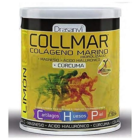 Collmar, colágeno marino hidrolizado con magnesio y ácido hialurónico + cúrcuma para cartilagos, huesos