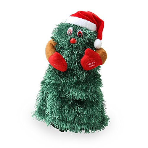 Christmas Shop Animated Dancing Christmas Tree (One size (11in)) (Green)
