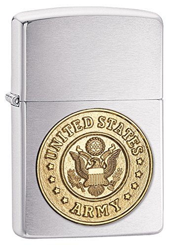Zippo Army Lighters - Brushed Chrome ()
