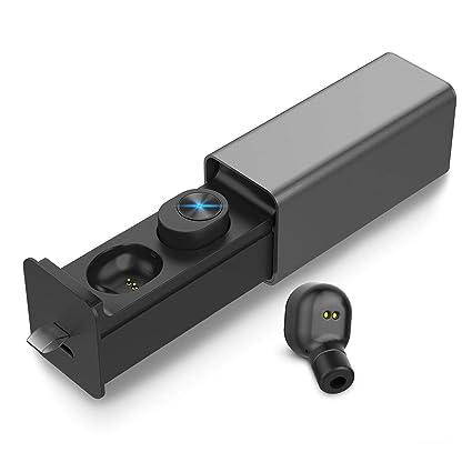 Auriculares Inalambricos Bluetooth, Adorishe Mini Twins Auriculares Portátil con Caja de Carga y Micrófono Integrado