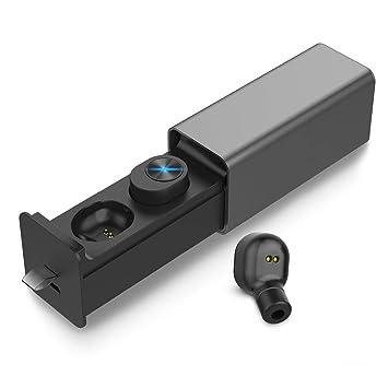 Auriculares Inalambricos Bluetooth, Adorishe Mini Twins Auriculares Portátil con Caja de Carga y Micrófono Integrado Hi-Fi Stereo Auriculares Deportivos ...