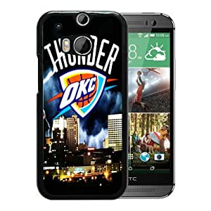 Fashionable And Unique Designed Cover Case With okc thunder Black For HTC ONE M8 Phone Case