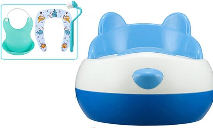 WC Escalera para Asiento de Inodoro para baño Infantil Tocador de Inodoro Infantil para niño y niña Asiento portátil extraíble con Seguridad 36 * 34 * 28cm (Color : Azul, Tamaño : C): Amazon.es: Hogar