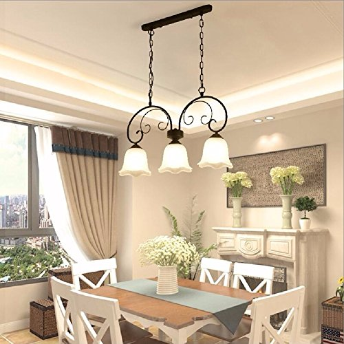 HQLCX Chandelier American Restaurant Three Chandeliers Simple Bedroom Study Dining Room Chandelier 700X340Mm by HQLCX-Chandeliers