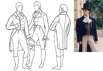1795 – 1820 de hombre Frac patrón