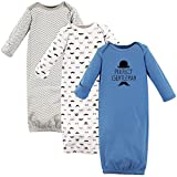 Hudson Baby Baby Boys Infant Cotton Gown, 3 Pack