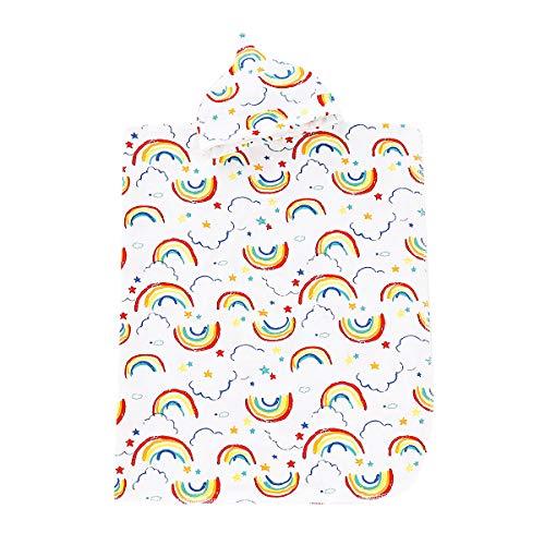 Newborn Baby Girls Boys Receiving Blankets Cotton Rainbow Print Blanket Hat Set Unisex Soft Swaddling Blankets Winter Outfits ...