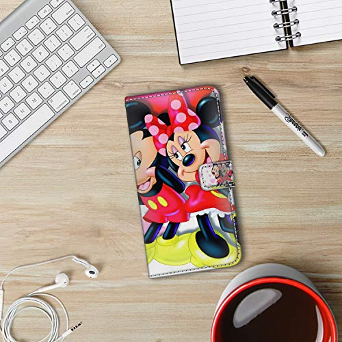 DISNEY COLLECTION Wallet Case with Kickstand Compatible iPhone Xs Max [6.5-Inch] Mickey and Minnie in Love Hd Wallpaper for Mobile Phones and laptops Series