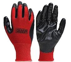 Grease Monkey Large Work Gloves Nitrile Coated 12 Pack