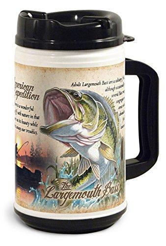- American Expedition TM32-111 Thermal Mug, Wildlife Largemouth Bass, 32 oz, Multi-Color