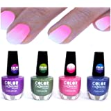 Set of 4 -Thermal Effect Colour Changing Nail Polish by cosmelux