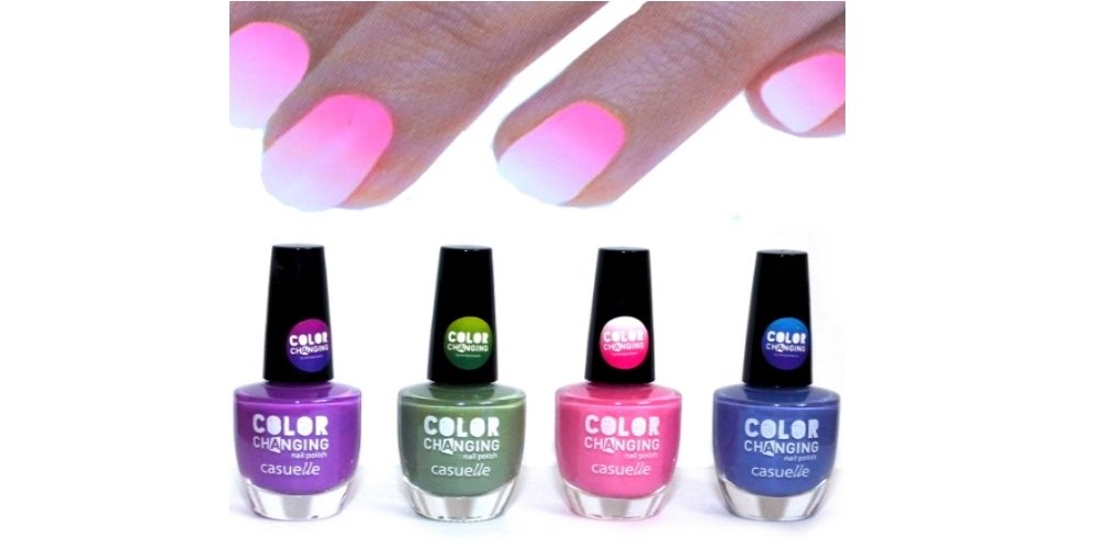Set of 4 -Thermal Effect Colour Changing Nail Polish by cosmelux ...