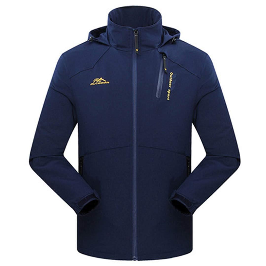 TH&Meoostny Herren Frühjahr Jacken Outwear Soft Shell Kausalen Kapuzenmantel Männer Wasserdichter Atmungsaktiver Mantel