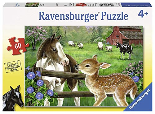 Ravensburger New Neighbors 60 Piece Jigsaw Puzzle for Kids - Every Piece is Unique, Pieces Fit Together Perfectly