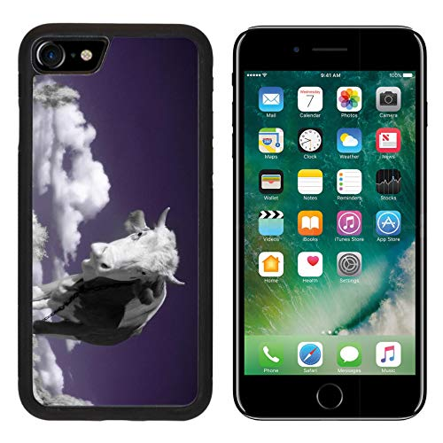 MSD Apple iPhone 8 Case Aluminum Backplate Bumper Snap Case Image ID: 4751899 A Cow is in The Field is in an Infra red Color Shoot Special photocam ()