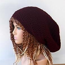 8ccf4478d9b Amazon.com  HANDMADE oversized Dreadlocks Cap Visor Dread Tam Hat ...