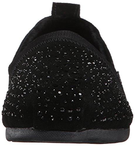 Skechers Bob Dalla Gemma Piatta Nera Da Donna Fashion Luxe Slip-on