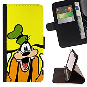 Fnny Goof Cartoon Character - Painting Art Smile Face Style Design PU Leather Flip Stand Case Cover FOR LG Nexus 5 D820 D821 @ The Smurfs
