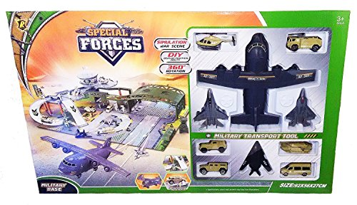 Ultimate Special Forces Military Base with Jumbo Aircraft and Accessories