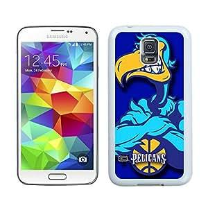 New Custom Design Cover Case For Samsung Galaxy S5 I9600 G900a G900v G900p G900t G900w New Orleans pelicans 1 White Phone Case
